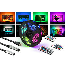 LED Strip Light Bar TV Back Lighting Kit+USB Remote Control 5V 5050 60SMD/M RGB