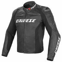 DAINESE Racing D1 Pelle LEATHER JACKET MOTORBIKE / MOTORCYCLE - BLACK
