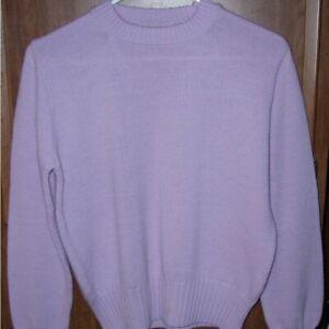 Vintage Garland Crewneck Sweater – lavender – 38 inch bust – 100% Orlon acrylic