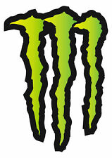 "Large HUGE Monster Energy Drinks Logo Stickers Decals 11.69"" x 8.27"" ATV/Truck"
