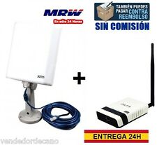 PACK ADAPTADOR WIFI USB SIGNAL KING SK-10TN+ Y ROUTER ALFA R36.KIT COMPARTE WIFI