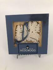 Wedgwood 2000 White Jasper Merry Christmas Sledding Ornament - Mib