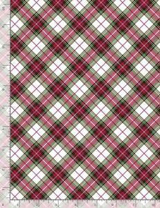 Christmas Fabric - Noel Red & Green Plaid Print - Timeless Treasures YARD