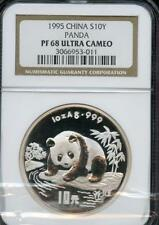 RARE 1995 CHINA S10Y PANDA NGC PF68 U.C. NICE COIN FOR THE PRICE PLEASE LQQK!