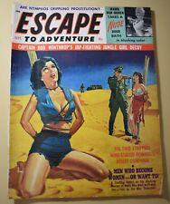 'Escape to Adventure' Sept. 1964 Men's Pulp Magazine *LOOK*