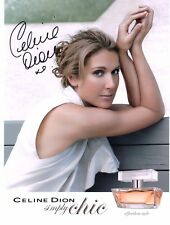 "CELINE DION ""RARE""  SIMPLY CHIC SIGNED 8X10 PHOTO PLUS FREE LUNDI MAGAZINE"