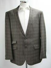 Herren Fellini braun karierte taillierte Passform 2pc Anzug (50r)... - 4365