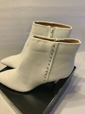 Metaphor Womens Cyndi Ankle Boots White Size 11M