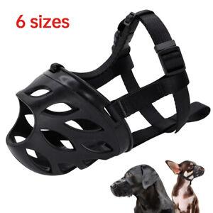 Soft Muzzle Anti Bite Mouth Cover Adjustable Basket for Small Medium Large Dog