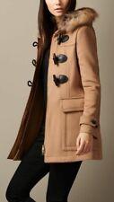 Burberry Brit Blackwell Toggle Duffle Wool Coat Camel US 2 UK 4 EU 36