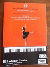 BARBICAN -  R.P.O. Series - BEETHOVEN Concertos & STRAVINSKY ballet , 1999/2000