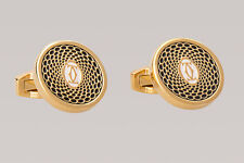 Cartier Cufflinks Mens fashion designer dress shirt Gold plated