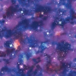 Rasch Cosmic Space Glitter Sparkle Galaxy Wallpaper Purple Multi  273205