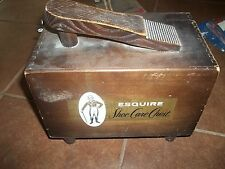 vintage ESQUIRE shoe shine box with contents - classic!