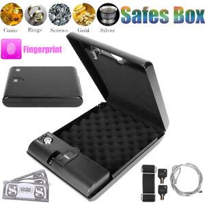 Portable Safety Storage Box Smart Fingerprint Keys Lock For Cash Jewelry Money