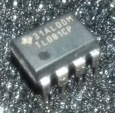 5 pcs. TL081CP LOW POWER J-FET OPERATIONAL AMPLIFIERS