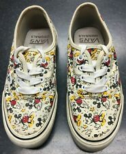 Vans Off The Wall Disney Mickey Mouse Low Top Trainers Shoes Women's Size 4 UK