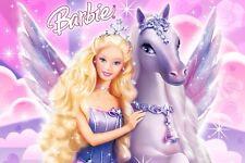 CIALDA in ostia BARBIE Pegasus,  decorazione torta, personalizzabile