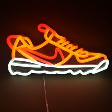 Neon Signs Lightning Sport Shoe for Shop Mall Party Wall Decorations RF Wireless
