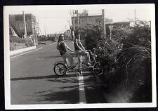 1960's TANDEM Stingray Style BICYCLE Mod Girls Hippy Chicks ORIGINAL PHOTOGRAPH
