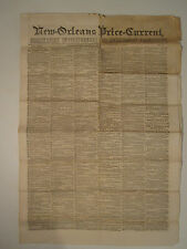 ANTIQUE NEW ORLEANS LA 1858 RARE NEWSPAPER SHIPS CA GOLD SILVER COINAGE US MINT