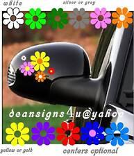 Car 10 Flower Set Mirror decal cover centers VW bug beetle van mini daisy USA