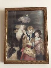 Antique Portrait Print Mrs Smith With Children After J Reynolds Ca 1895