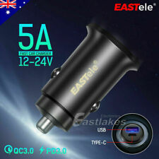PD QC FAST CHARGING USB Car Charger For Samsung S20 S10+ Note 10 5G S9 Type-C
