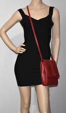 Salvatore Ferragamo Red Leather Shoulder Bag - Made In ITALY