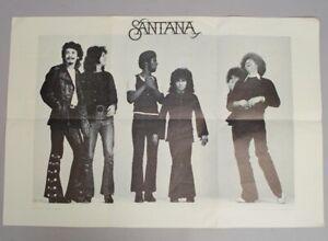 Original c1970 Santana Latin Rock Band Columbia Records Poster