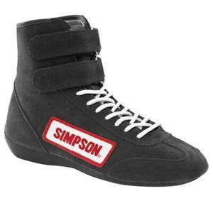 Simpson High Top Driving Car Racing Shoes Sfi 5 6 7 8 9 10 11 12 13 Uk Fire