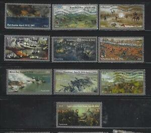 US Sc# 4522-3 4664-5 4787-8 4910-1 4980-1 AMERICAN CIVIL WAR SETS USED OFF PAPER