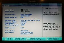 """HP Pavilion dv4000 16"""" Laptop Pentium M 1.60GHz 512MB RAM No HDD Booted to BIOS"""