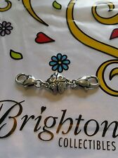 Brighton clover luck 5 crystal extender clasp two hearts for bracelet 2 inch NEW