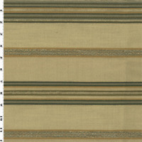 Valdese Stripe Pamlico Parchment Beige  Decorating Fabric, Fabric By The Yard