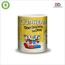 "Tazza In Ceramica - Ceramic Mug "" CUPHEAD, THE DEVIL, KING DICE""  (11oz)"