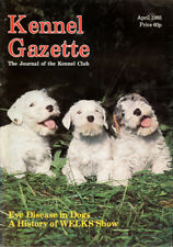 SEALYHAM TERRIER Pups on the Cover of the KENNEL GAZETTE April 1985 KC Magazine