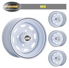 "5.5x10"" JBW W8 ICE WHITE STEEL WHEELS CLASSIC MINI SET OF 4"