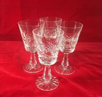 """Lovely Waterford Crystal Kenmare Wine Water Glasses Goblets Set of 4 - 6"""" tall"""