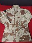 US Army Combat Coat 5 Color Chocolate Chip Desert Camo Sm/Reg