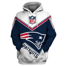 New England Patriots Hoodies Sweatshirts Men's Casual Pullover Jacket Fans Coat