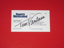 Sports Illustrated TOM VERDUCCI Signed Business Card MLB NETWORK AUTOGRAPH