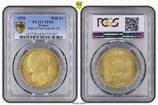 M4556 Rare 20 Francs Turin Essai 1929 Br-Alu PCGS SP64 FDC -> Faire offre