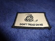 U.S Military Army Marine Corps Dont Tread On Me Flag Patch Brown Hook Patch