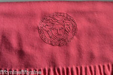 NEW GENUINE  VERSACE PINK WOOL SCARF  MADE IN ITALY WOMAN / MEN  Gift