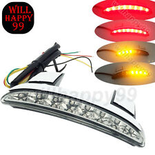 Clear LED Tail Light Turn Signal license Plate for Harley Sportster XL883