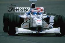 Jan Magnussen mano firmado Stewart Ford F1 12x8 Foto 3.