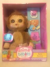 "JAKKS PACIFIC 14"" ANIMAL BABIES • MONKEY WITH ACCESSORIES"