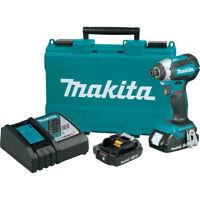 Makita 18V LXT BL 1/4 in. Hex Impact Driver Kit XDT13RR Certified Refurbished