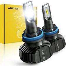 AUXITO Fanless LED Headlight Kit H11 H8 H9 Low beam 9000LM 6000K White Bulb CSP